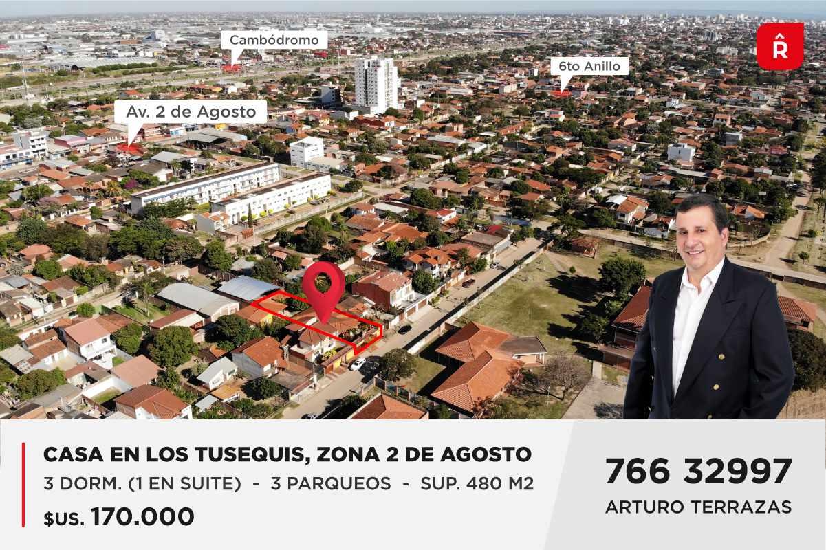 Casa en Venta Los Tusequis, Avenida 2 de Agosto Calle Zula. Foto 1