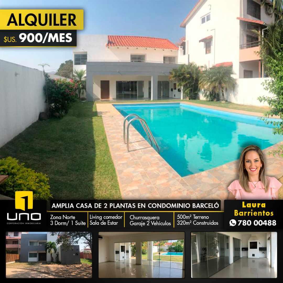 Casa en Alquiler CONDOMINIO BARCELO, Zona NORTE Foto 1